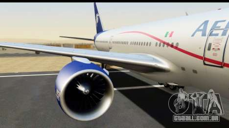 Boeing 777-200ER AeroMexico para GTA San Andreas vista traseira
