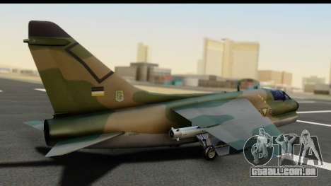 Ling-Temco-Vought A-7 Corsair 2 Belkan Air Force para GTA San Andreas esquerda vista