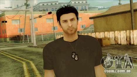 Young Alex Shepherd Skin without Flashlight para GTA San Andreas terceira tela
