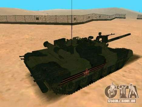 T-80U para GTA San Andreas vista direita