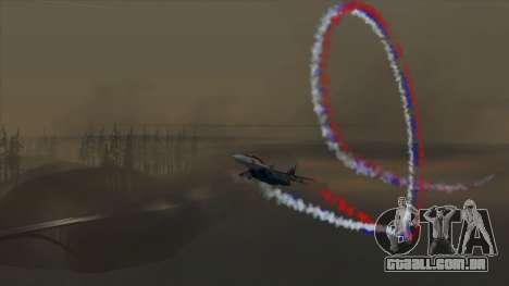 A bandeira da Rússia para aviões para GTA San Andreas terceira tela