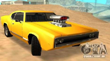 Sabre Charger para GTA San Andreas interior