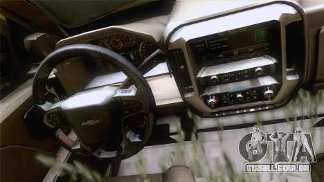 Chevrolet Silverado 2014 Work para GTA San Andreas traseira esquerda vista