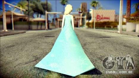 Frozen Elsa v2 para GTA San Andreas segunda tela