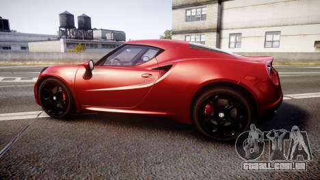 Alfa Romeo 4C 2014 para GTA 4 esquerda vista