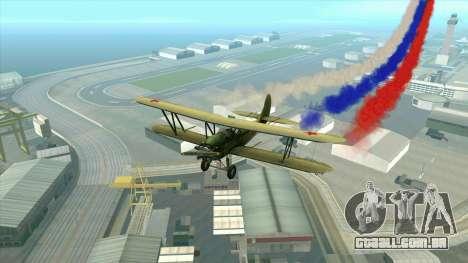 A bandeira da Rússia para aviões para GTA San Andreas por diante tela