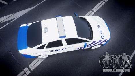 Ford Fusion 2014 Belgian Police [ELS] para GTA 4 vista direita