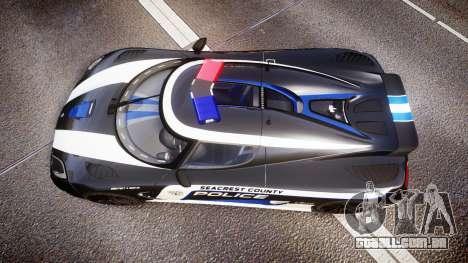 Koenigsegg Agera 2013 Police [EPM] v1.1 PJ3 para GTA 4 vista direita