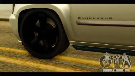 Chevrolet Suburban 2010 NFS para GTA San Andreas traseira esquerda vista