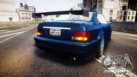 Ubermacht Sentinel STD Sport para GTA 4 traseira esquerda vista