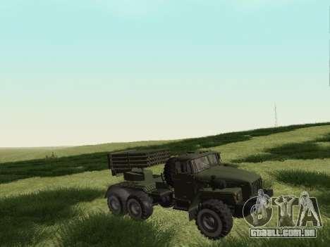 Ural 375 Grad MLRS para GTA San Andreas esquerda vista