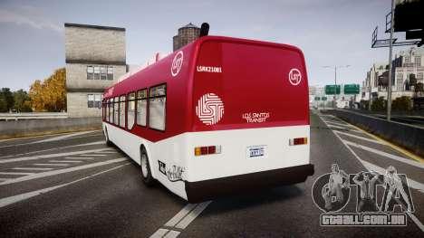 GTA V Brute Bus para GTA 4 traseira esquerda vista