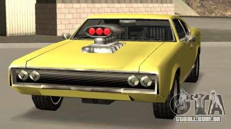 Sabre Charger para GTA San Andreas traseira esquerda vista