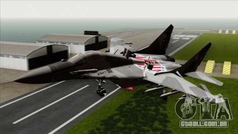 MIG-29A Polish Air Force Kosynierzy para GTA San Andreas