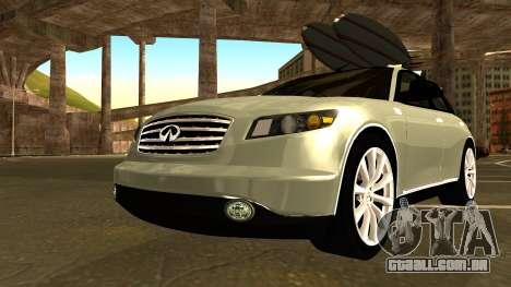 Infiniti FX 45 2007 para GTA San Andreas vista interior