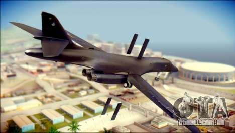 B-1B Lancer Camo Texture para GTA San Andreas esquerda vista