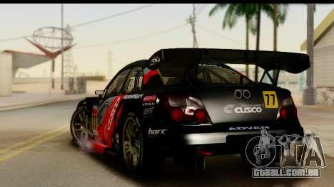Subaru Impreza WRX STI 2003 JGTC para GTA San Andreas esquerda vista