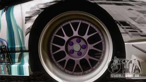 Acura NSX Miku Ghoul Itasha para GTA San Andreas traseira esquerda vista