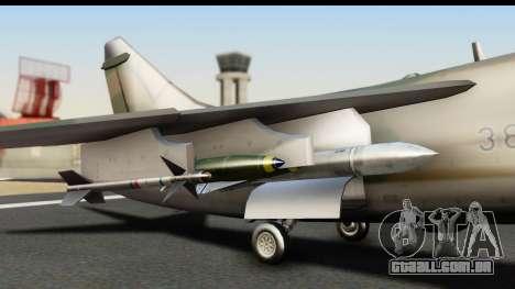 Ling-Temco-Vought A-7 Corsair 2 Belkan Air Force para GTA San Andreas vista direita