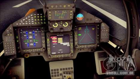 EF-2000 Typhoon  Federal Erusea Air Force para GTA San Andreas vista traseira