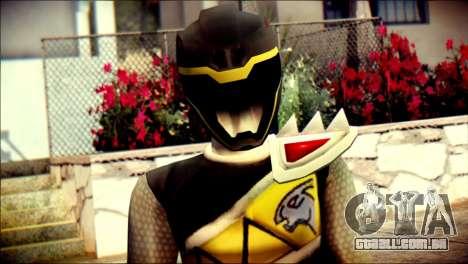 Power Rangers Kyoryu Black Skin para GTA San Andreas terceira tela