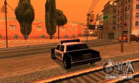 Beta LVPD Police para GTA San Andreas vista traseira