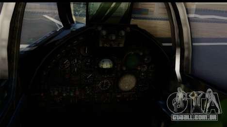 Ling-Temco-Vought A-7 Corsair 2 Belkan Air Force para GTA San Andreas traseira esquerda vista