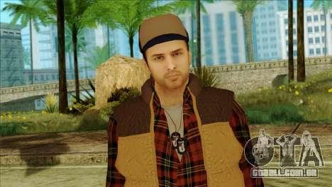 Big Rig Alex Shepherd Skin without Flashlight para GTA San Andreas terceira tela