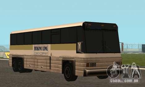 Coach Fixed para GTA San Andreas vista interior