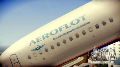 Boeing 737-800 Aeroflot para GTA San Andreas vista traseira