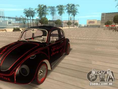 Volkswagen Super Beetle Grillos Racing v1 para GTA San Andreas vista direita