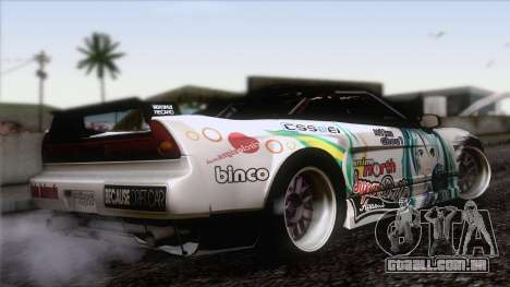 Acura NSX Miku Ghoul Itasha para GTA San Andreas esquerda vista
