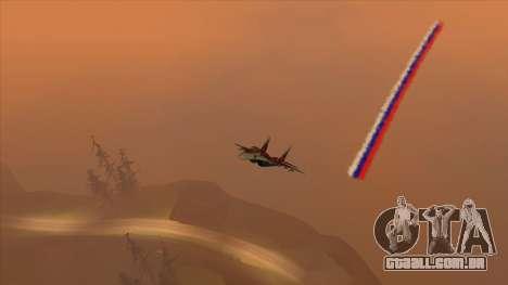 A bandeira da Rússia para aviões para GTA San Andreas segunda tela