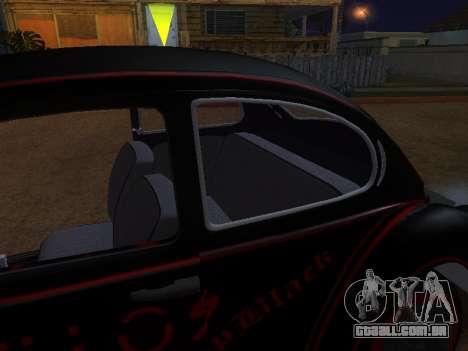 Volkswagen Super Beetle Grillos Racing v1 para GTA San Andreas interior
