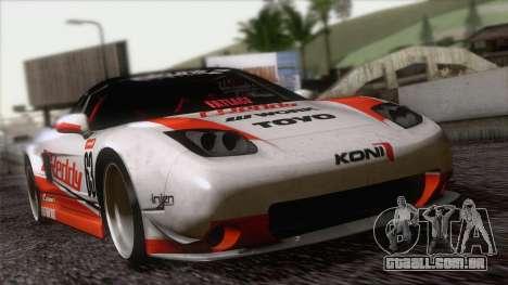 Acura NSX Miku Ghoul Itasha para GTA San Andreas vista traseira