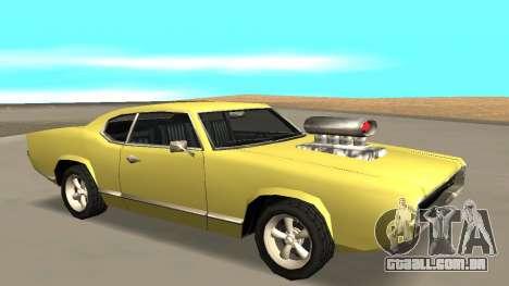 Sabre Charger para GTA San Andreas vista traseira