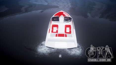 Velocidade barco para GTA 4 traseira esquerda vista