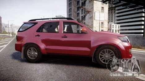 Toyota Hilux SW4 2015 para GTA 4 esquerda vista