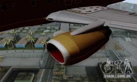 Boeing 737-800 Southwest Gold para GTA San Andreas vista direita