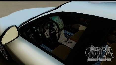 Infiniti FX 45 2007 para GTA San Andreas vista traseira