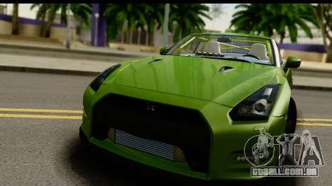 Nissan GT-R Dragster para GTA San Andreas traseira esquerda vista