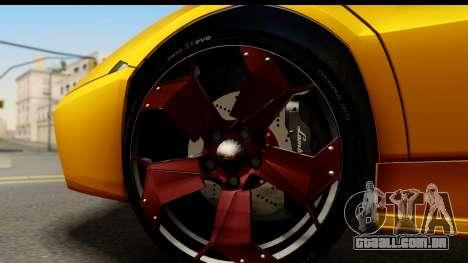 Lamborghini Reventon 2008 para GTA San Andreas vista traseira