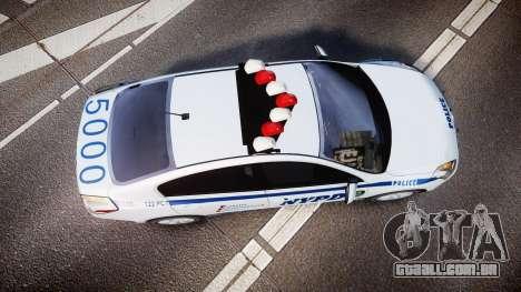 Nissan Altima Hybrid NYPD para GTA 4 vista direita
