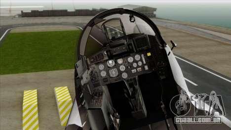 MIG-29A Polish Air Force Kosynierzy para GTA San Andreas vista traseira