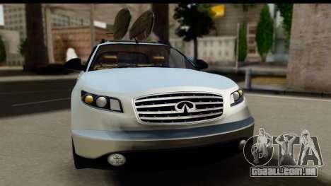Infiniti FX 45 2007 para GTA San Andreas traseira esquerda vista