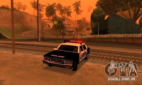 Beta LVPD Police para GTA San Andreas vista interior