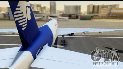 Boeing 777-200ER AeroMexico para GTA San Andreas traseira esquerda vista