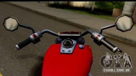 Honda Shadow 750 para GTA San Andreas traseira esquerda vista