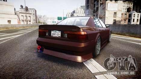 Maibatsu Vincent 16V Tuned para GTA 4 traseira esquerda vista
