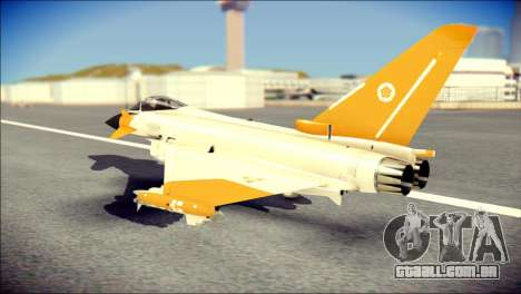 EF-2000 Typhoon  Federal Erusea Air Force para GTA San Andreas esquerda vista
